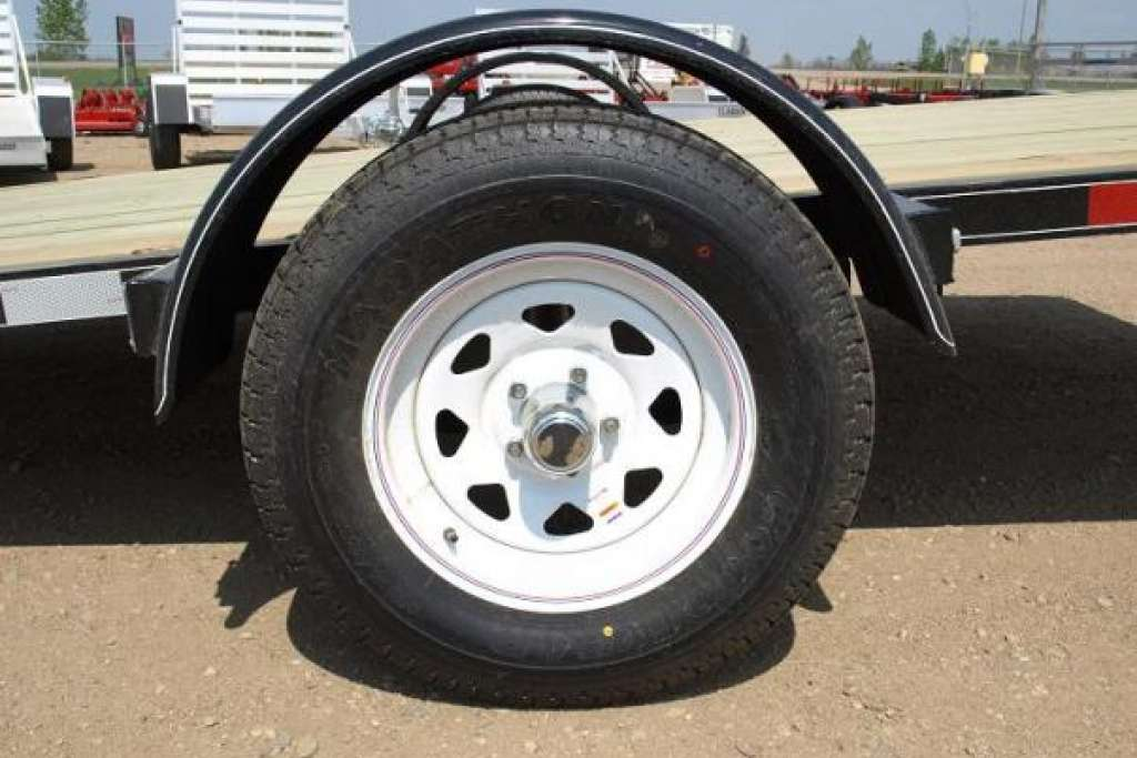 Trailtech premier Utility Trailer wheel and fender